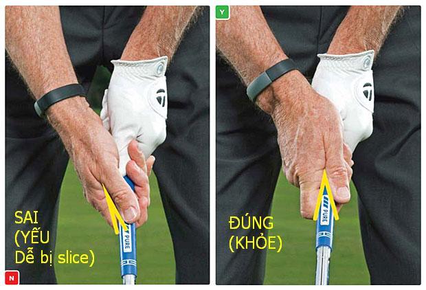 Hướng dẫn cách cầm gậy đánh golf đúng