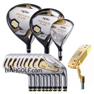 Bộ Gậy Golf Honma Mới Beres S-06 3 Sao 14 Gậy Putter Vàng