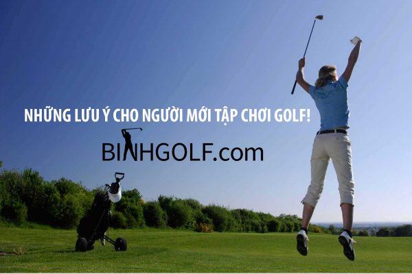 Những lưu ý cho người mới tập chơi golf!