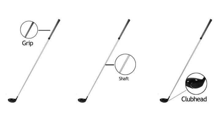 Cấu tạo cơ bản của một gậy golf