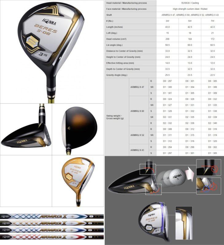 Bộ Gậy Golf Honma Beres S-06 4 Sao (New Model)
