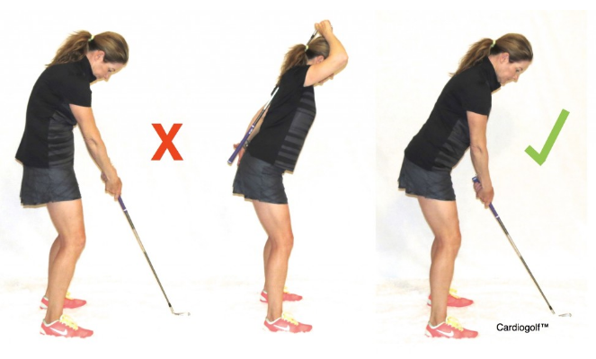 Tư thế set-up golf chuẩn