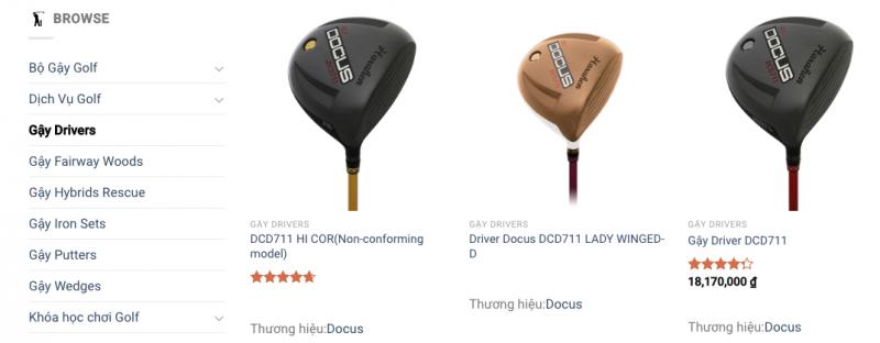 Nên mua gậy golf hãng nào?