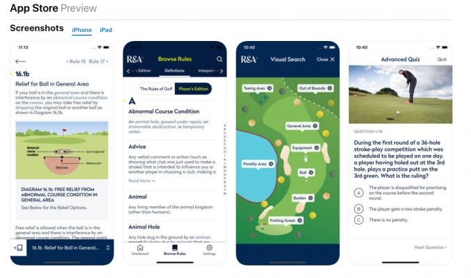 Luật Golf 2019 chính thức ra mắt tại website USGA và R&A