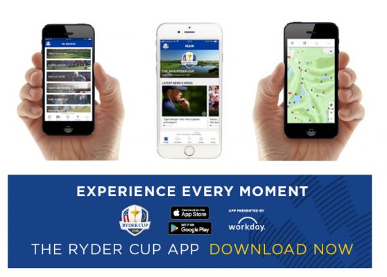App xem cập nhật nhanh giải golf RYDER CUP 2018