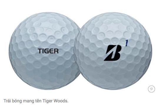 Bridgestone ra bóng golf phiên bản Tiger Woods