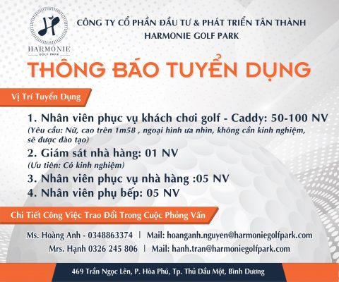Sân golf Harmonie Golf Park Bình Dương tuyển dụng