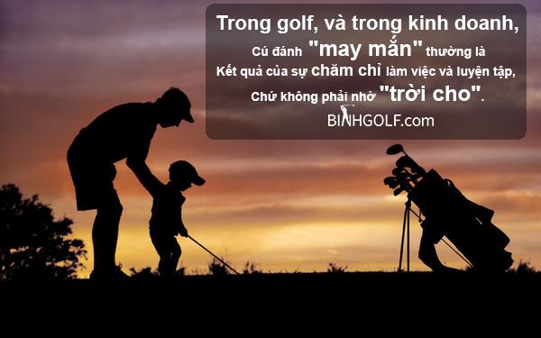 Những bài học cuộc sống ý nghĩa trên sân golf