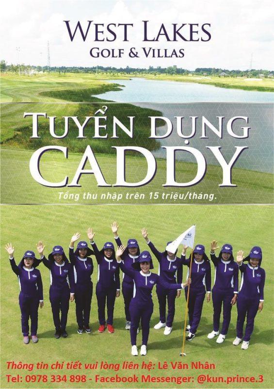 Sân West Lakes Golf Club & Villas Tại Long An Tuyển Dụng Caddy