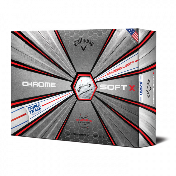 Bóng Golf Callaway Chrome Soft X with Triple Track