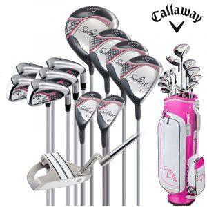 Bộ Gậy Golf Full Set Callaway Solaire Cho Nữ Mới Tập Chơi Golf (12 Gậy + Túi)