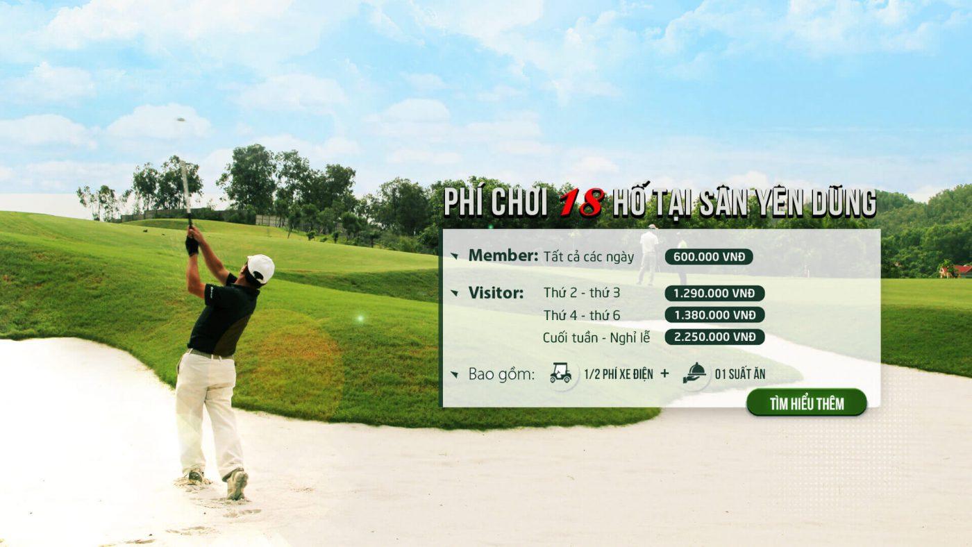 Bảng Giá Sân Gôn (Golf) Yên Dũng Resort & Golf Club Tại Bắc Giang