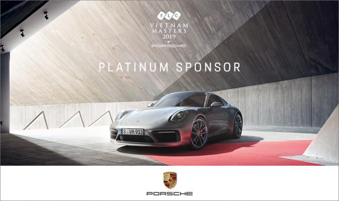 Hãng Xe hơi Porsche Nhà Tài Trợ Bạch Kim Giải Golf FLC VIETNAM MASTER 2019